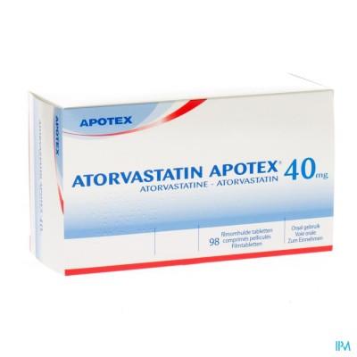 ATORVASTATIN APOTEX 40 MG FILMOMH TABL 98 X 40 MG