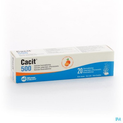 CACIT  500 BRUISTABLETTEN TUBE 20 X  500MG