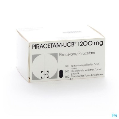 PIRACETAM UCB 1200MG COMP 100X1200MG
