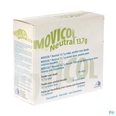 MOVICOL NEUTRAL ZAKJES 20 X 13,7 G