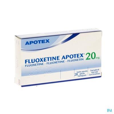 FLUOXETINE APOTEX CAPS 28 X 20 MG