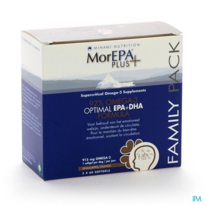 MINAMI MOREPA PLUS FAMILY PACK        SOFTGELS 120