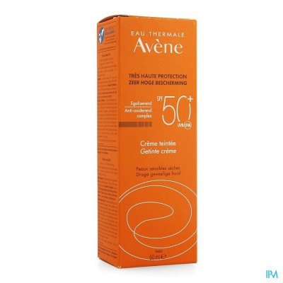AVENE ZON  IP50+ ZONNECREME GETINT            50ML