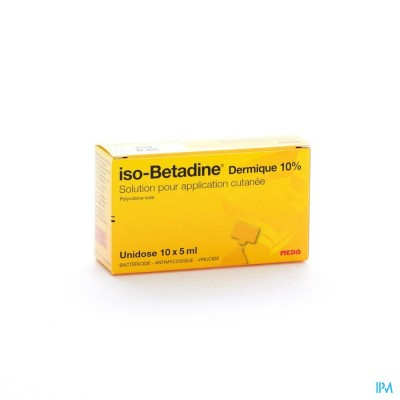 ISO BETADINE DERM 10% UNIDOSE FL 10X5ML