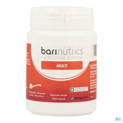 BARINUTRICS MULTI POWDER NATUUR         60 PORTIES