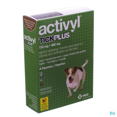 ACTIVYL TICK PLUS SPOT ON HOND S 5-10 VE