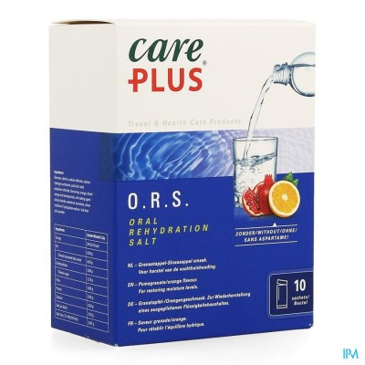CARE PLUS ORS POMEGRANATE ORANGE     ZAKJE 10X5,3G