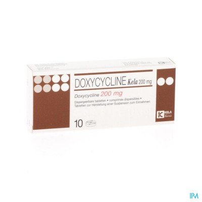 DOXYCYCLINE KELA DISP.TABL 10 X 200 MG