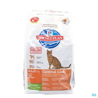 HILLS SC.PLAN FELINE ADULT RABBIT       2KG  8739M