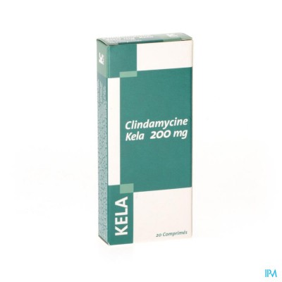 CLINDAMYCINE KELA 200MG 20TBL