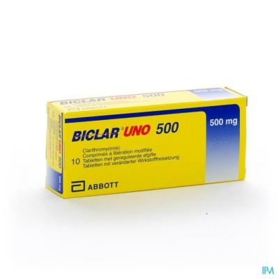 BICLAR UNO COMP 10 X 500 MG