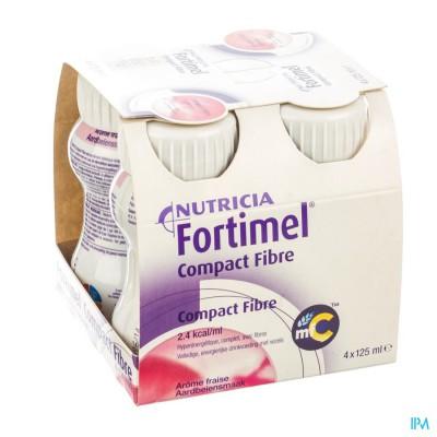 FORTIMEL COMPACT FIBRE AARDBEI 4X125ML