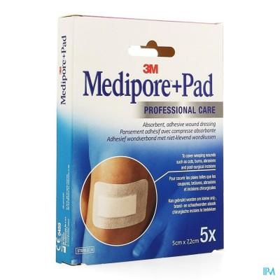 Medipore + Pad 3m 5x 7,2cm 5 3562p