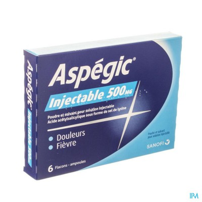ASPEGIC 6 FL AMP INJ + 6 SOLV  5 ML