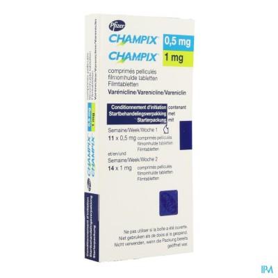 CHAMPIX COMP 11 (0,5 MG) + 14 (1 MG) ACLAR/PVC/ALU
