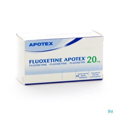 FLUOXETINE APOTEX CAPS 84 X 20 MG