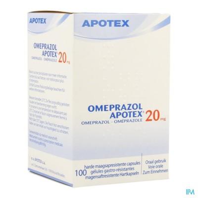 OMEPRAZOL APOTEX CAPS 100 X 20 MG