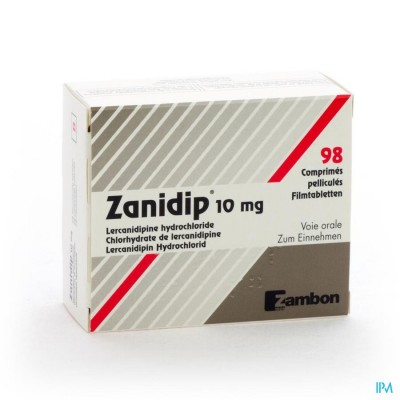ZANIDIP COMP 98 X 10 MG