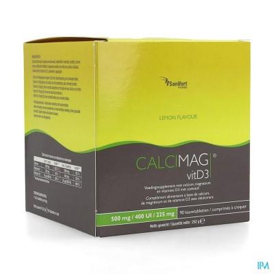 CALCIMAG CA 500MG/D3 400UI/MG 225MG LEMON  COMP 90