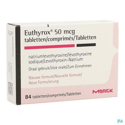 EUTHYROX  50MCG COMP  84 NF