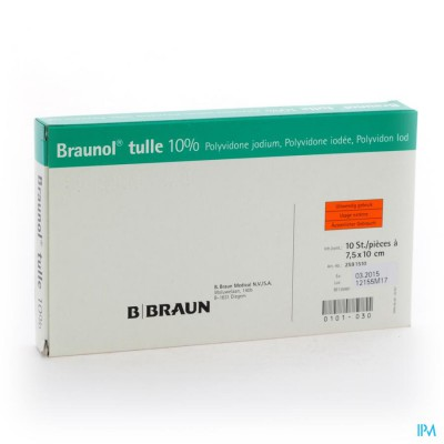 BRAUNOL TULLE 7,5 X 10 CM - 10