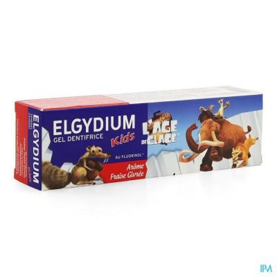 ELGYDIUM KIDS TANDPASTA AARDBEI ICE AGE 2-6J  50ML