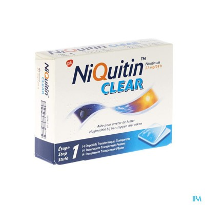 NIQUITIN CLEAR PATCHES 14 X 21 MG