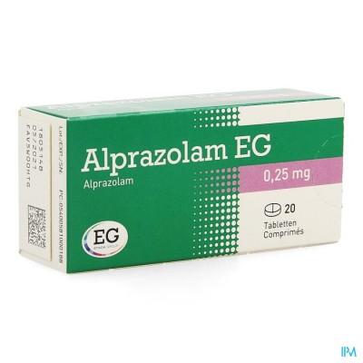 ALPRAZOLAM EG COMP 20 X 0,25MG