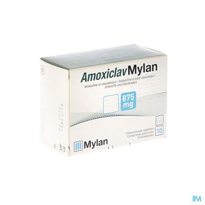 AMOXICLAV MYLAN COMP 10X875MG