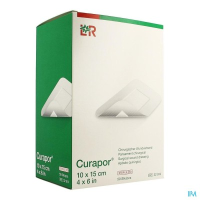 CURAPOR VERB CHIRURG. STERIEL  15CMX10CM  50 32914