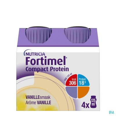 FORTIMEL COMPACT PROTEIN VANILLE 4X125ML