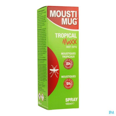 MOUSTIMUG TROPICAL MAXX 50% DEET SPR 100ML