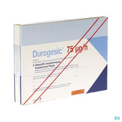 DUROGESIC PL EMP  5X 75MCG/HEURE/UUR