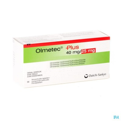 OLMETEC PLUS 40 MG/25 MG COMP PELL 98