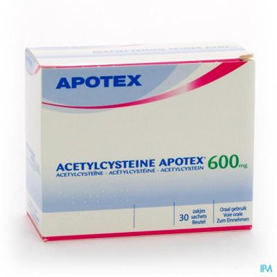 ACETYLCYSTEINE APOTEX SACH 30 X 600 MG