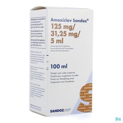 AMOXICLAV SANDOZ 125MG/5ML PD SUSP100ML