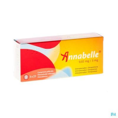 ANNABELLE 0,02 MG/3 MG COMP  3 X 21