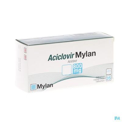 ACICLOVIR MYLAN 800 COMP 35 X 800 MG