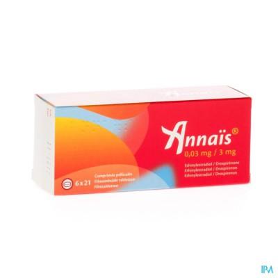 ANNAIS 0,03 MG/3 MG COMP  6 X 21