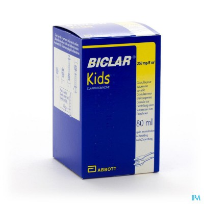 BICLAR 250 KIDS GRAN SUSP 250MG/5ML