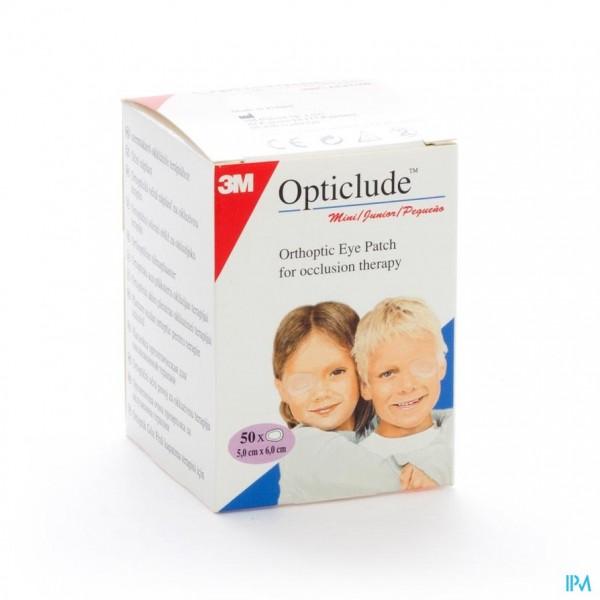 OPTICLUDE 3M JUNIOR OOGKOMPRES  63MMX48MM  50 1537