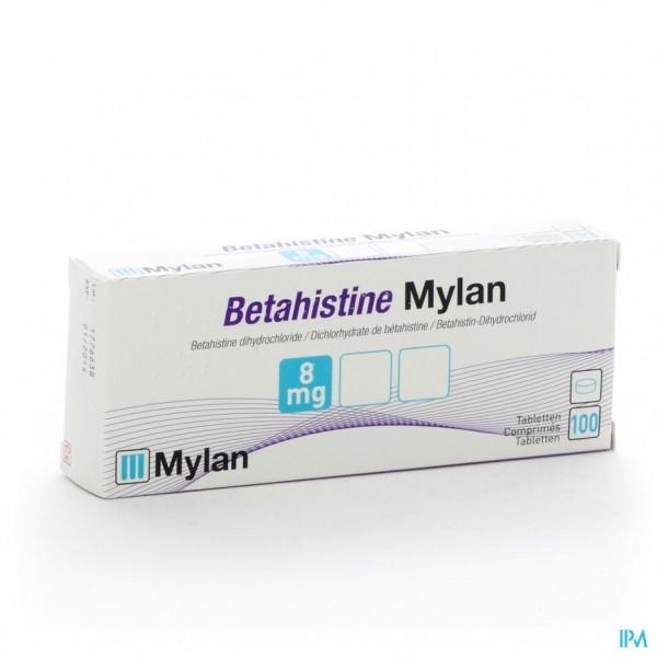 BETAHISTINE MYLAN  8 MG COMP 100 X  8 MG